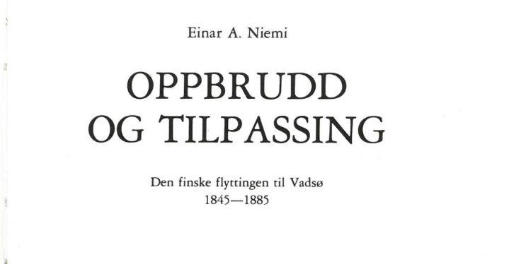 Oppbrudd og tilpasning, Einar Niemi – Softcover