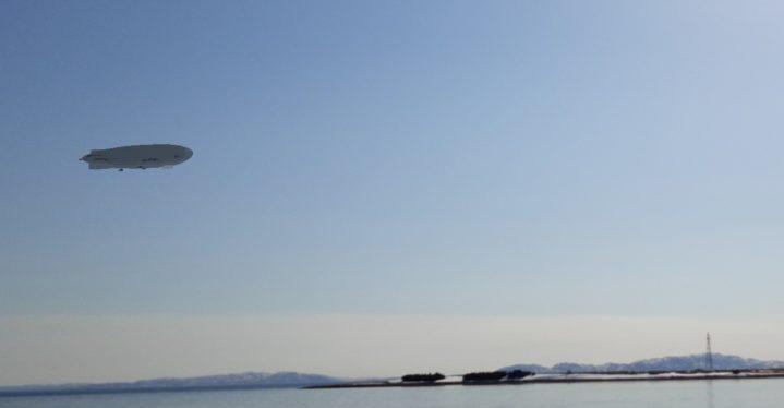 Følg skyggen av luftskipet Norge